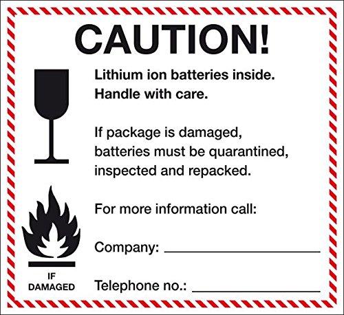 LEMAX® Verpackungskennz. Lithium-Ionen-Batterien,ADR 188 f),englisch,Folie,120x110mm