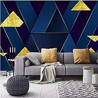 写真の壁紙3D立体空間カスタム大規模な壁紙の壁紙 幾何学的な金属線リビングルーム現代リビングルームのテレビの背景寝室家の装飾壁画 -350X250cm(137 * 98インチ)