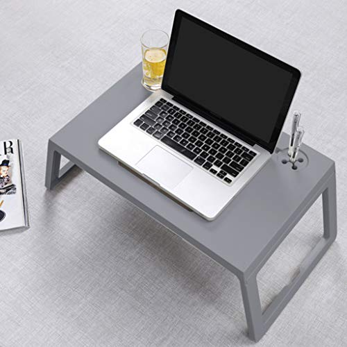 ZHOU2# Bedside Table Mobile Medical Overbed Table, Home Office Foldable Portable Study Writing Laptop Table Breakfast Table, Student Study Reading Writing Desk PC Laptop Table Coffee Table (Gray)