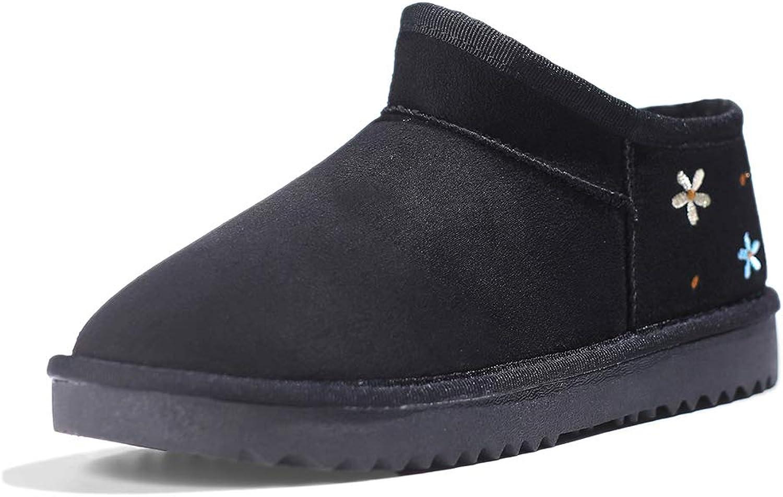 Women's Winter Snow Boots, Fashion Flower Pattern Comfortable Warm Women's Cotton shoes