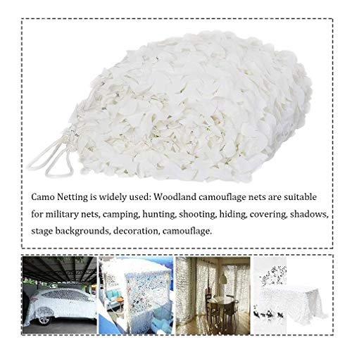 Outdoor Camouflagenetten White Camo Netting Jachtcamouflage Camping Party Bar Tuindecoratie Nets Zon Shelter 4 * 4M (13.1 * 13.1FT) (Color : White, Size : 8 * 10M(26.2 * 32.8ft))