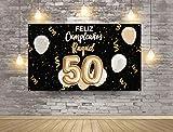 Photocall en Lona Feliz Cumpleaños Personalizado Nombre y Número | 185 x 110 cm | Photocall Económico y Original |