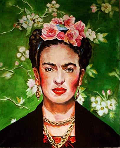 LSDEERE Kit de pintura por números, para adultos y niños, pintura al óleo digital Frida Kahlo autorretrato lienzo arte de pared decoración del hogar