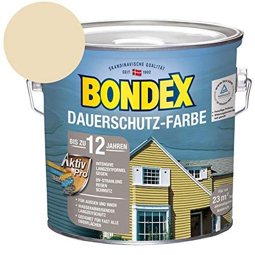 Bondex Dauerschutz-Holzfarbe Cremeweiß / Champagner 2,50 l - 329877