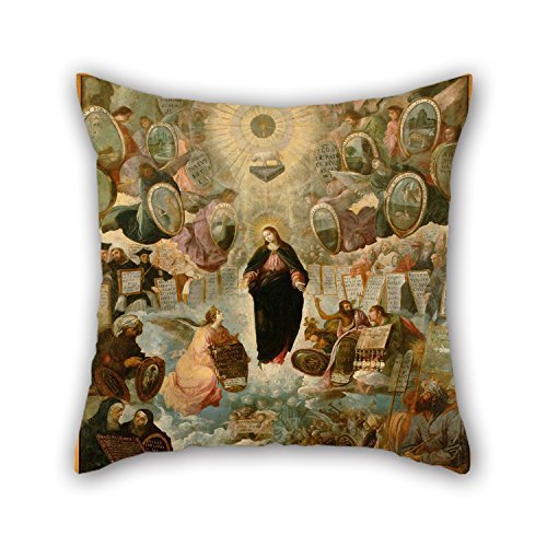 beautifulseason Oil Painting Juan De Roelas - 'Alegoría De La Virgen Inmaculada' Cushion Cases 20 X 20 Inches / 50 by 50 Cm Best Choice For Kids Girls Dining Room Teens Boys Floor GF Kids with Dou