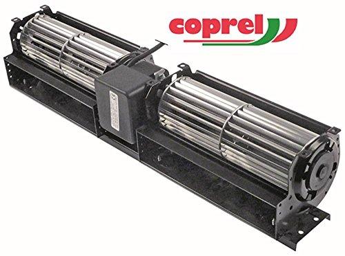COPREL FFD Querstromlüfter für KBS 43W Walze ø 60x2x180mm Motor mittig 230V 50Hz Anschluss Kabel 43mm Kältetechnik Lager Gummi