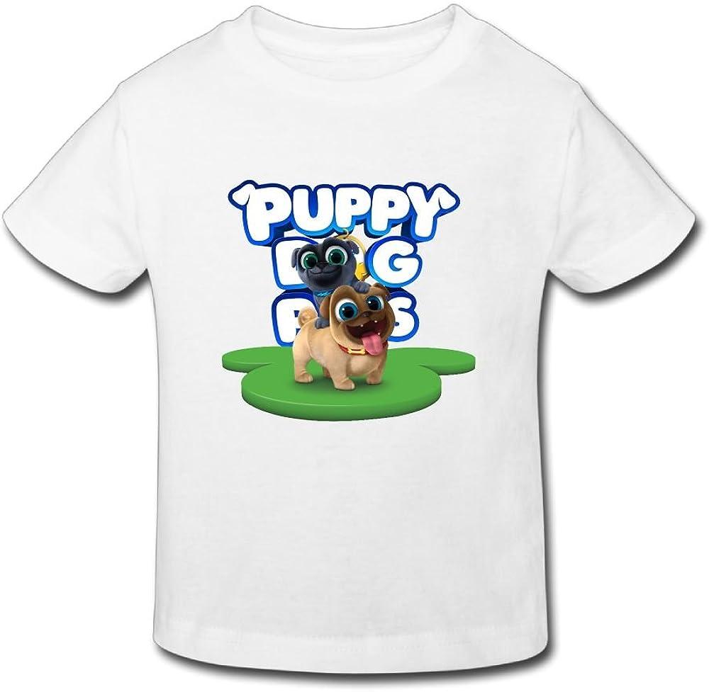 Ssuac Yi66 Puppy Dog Lovely Pals Child Novelty Short Sleeve Tank Top Cotton T-Shirt White