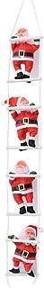 サンタはしご リスマス飾り クリスマスツリー 飾り サンタ人形 もちゃ サンタクロース人形 クリスマスパーティー吊り 吊り装飾用 贈り物 ギフト 子供 雰囲気 人気 インテリア【25cm&四つのサンタ】