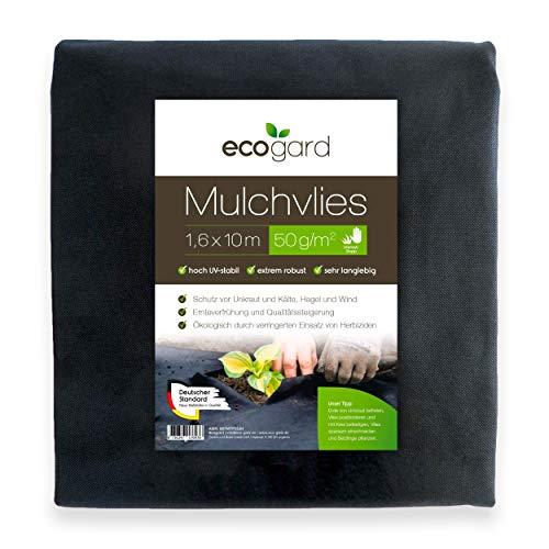 Ecogard - Telo anti-erbacce, qualità professionale, 50 g m², 32 m², protezione dalle erbacce, aumento del rendimento, protezione dalle intemperie (16 m² (1 x 1,6 m x 10 m))
