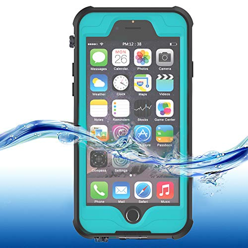 "ImpactStrong iPhone 6 Waterproof Case [Fingerprint ID Compatible] Slim Full Body Protection Cover for Apple iPhone 6 / 6s (4.7"") - Ocean Blue"