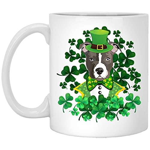 N\A Taza Disfraz de Shamrock Pitbull St Patricks Day