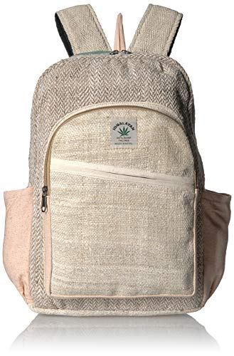 Rucksack aus 100 % reinem Hanf, mehrfarbig, handgefertigt, mit Laptop-Hülle, modisch, niedlich, für Reisen, Schule, Uni, Schultertasche, Büchertasche, Tagesrucksack