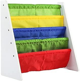 Tot Tutors Kids Book Rack Storage Bookshelf, White/Primary (Summit Collection)