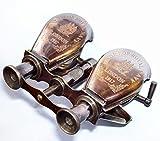 vintage-brass Antique 1917 Brass Traveling Telescope Binoculars Monocular