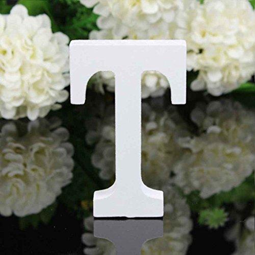 rongweiwang 26 Grandes Letras del Alfabeto de Madera del Alfabeto de Madera...