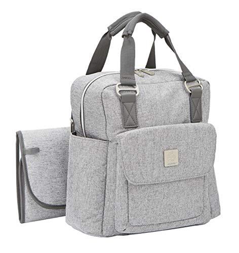 Ergobaby Mochila para pañales de bebé, compacta, multifuncional, impermeable, color gris
