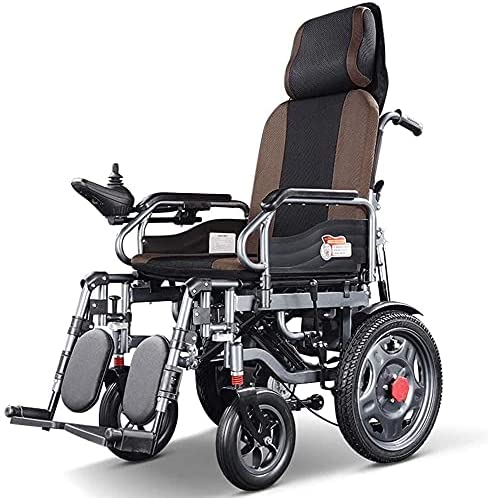 Electric Wheelchair with Deluxe Headrest Portable Foldable Spring new work one after another