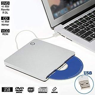 External CD DVD Drive Player for Laptop USB 2.0 Portable Ultra Slim CD DVD ROM Burner Reader for iMac/MacBook Air Laptop P...
