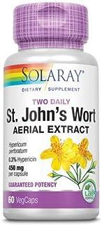 Solaray Guaranteed Potency St. John's Wort Two Daily, Veg Cap (Btl-Plastic) 450mg | 60ct