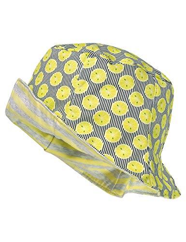 maximo Hut, Reversible Chapeau De Soleil, Multicolore (Hellgelb-Navy-Zitrone 36), 49 Bébé Fille