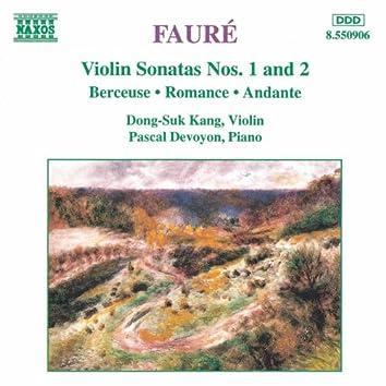 FAURE: Violin Sonatas Nos. 1 and 2