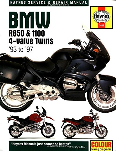 BMW R850 & 1100 4-Valve Twins Service and Repair Manual (Haynes Service and Repair Manual Series., Band 3466)