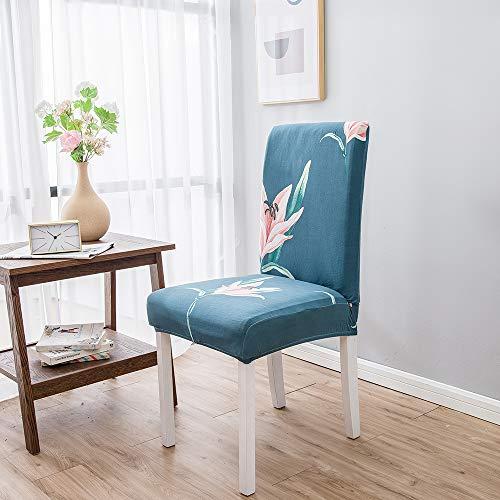 Chickwin stoelbekleding met rugleuning, 1/4/6/10 stuks, elastisch, met afneembare rugleuning, wasbaar, beschermhoes voor stoelen voor keukenbank hotel