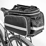 Alforjas Bicicleta Impermeable asiento posterior de la bicicleta bolsa Estante de la bici Bolsa Bolsa posterior del tronco del asiento trasero Pannier de ciclo del bolso de hombro for al aire libre Ma