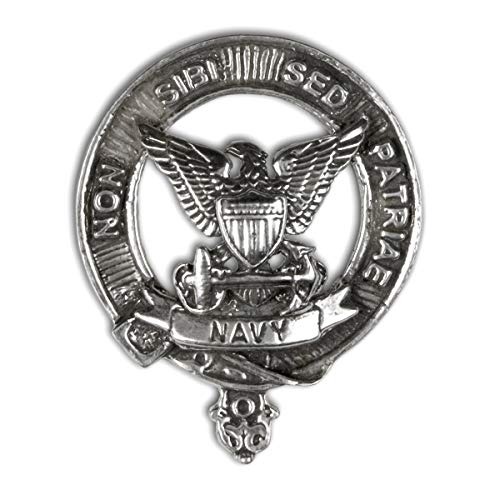 U.S. Navy Pewter Cap Badge/Brooch - Made in The U.S.
