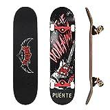 NACATIN Planche à roulettes Skateboard Pour Les Enfants, Jeunes et Adultes avec des...