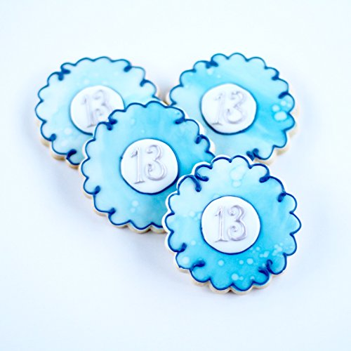 ½ Dz. Monogramed Watercolor Cookies! A Tranquil and Mesmerizing Personalized Gift! Sweet 16 Birthday, Bridal Shower, Art, Nautical Theme Party Favors!