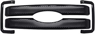 NINTE Grille Covers for 2011-2016 Ford F-250 F-350 F-450 Super Duty - ABS Painted Black Front Bumper Hood Grill Cover - 4pcs