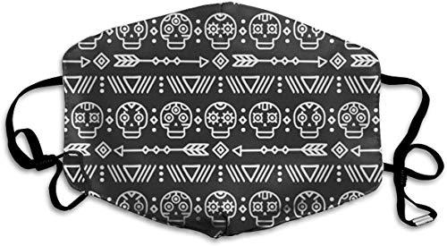 NA Dia De Muertos Maskers Verstelbare Wasbare Herbruikbare Gezellige Ademende Mode Maskers