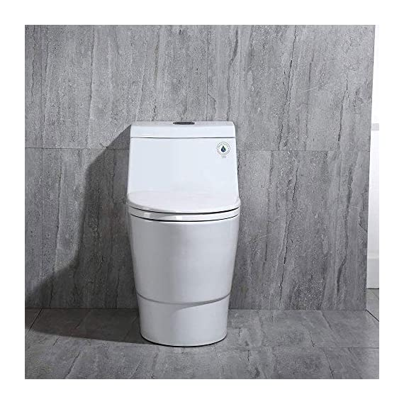WOODBRIDGE T-0001, Dual Flush Elongated One Piece Toilet with Soft Closing Seat, Comfort Height, Water Sense, High-Efficiency, Rectangle Button B-0940 Pure White 3 <p>✅ : Ship from warehouse directly ; Fast shipment Thant regular order ✅ : Luxurious Modern Design one piece toilet , Clean, sleek look and compliment with different styles like modern , craftsman , traditional and etc. ✅: The skirted trap way creates a sleek look and makes cleaning easier. Compare to other toilets, it has no corners and grooves, very easy to reach for cleaning . ✅: Siphon Flushing one piece toilet, Fully glazed flush system , bringing a super quiet and powerful flushing - NO clogs, NO leaks, and NO problem ✅: Comfort Height Design, Chair-height seating that makes sitting down and standing up easier for most adults ✅ High end Soft Closing Toilet Seat with Stainless Steel Durable Seat Hinge, Easy to get the toilet seat off to tighten or clean after years of use. ✅ : Package Includes toilet, pre-installed soft closing toilet seat, pre-installed water fitting , high quality wax ring , floor bolts , and installation instruction, also Include special hand wrench tool to easily tighten the bolts in narrow spaces. ✅ : US & Canada UPC & CSA certified products. High-efficiency, Water Sense Certified toilet - meet or exceed ANSI Z124. 1 & ANSI A112-19. 7 ✅ : 5 year limited on porcelain parts against fading/staining of the glaze; 1 Year on flushing mechanism & soft closing toilet seat , Woodbridge US based product support team is happy to assist with any sales or product-oriented queries.</p>