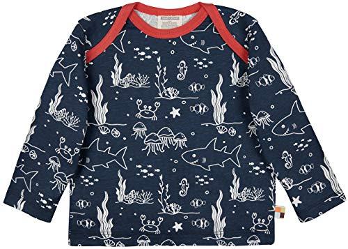 loud + proud Shirt Druck, Gots Zertifiziert Camiseta, azulón, 110-116 cm Unisex niños