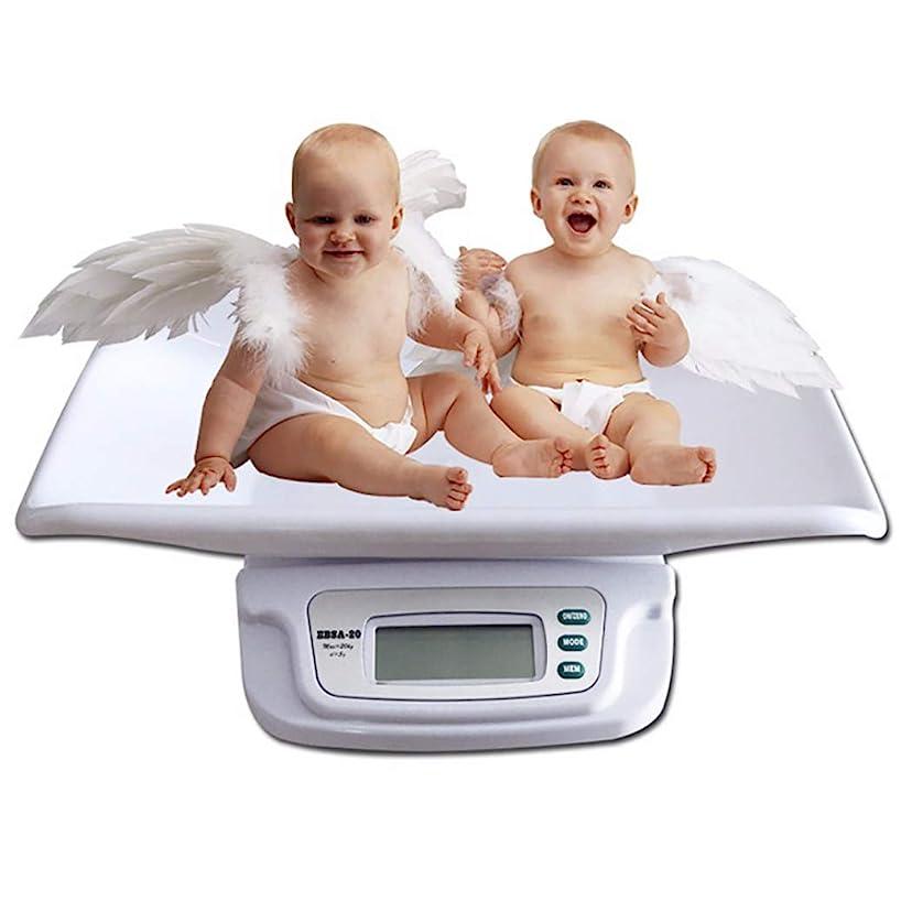 ぶどう時々時々タービンHSBAIS デジタル電子ベビースケール、多機能新生児体重計、最大容量20 kg / 44ポンド精密5 g,white