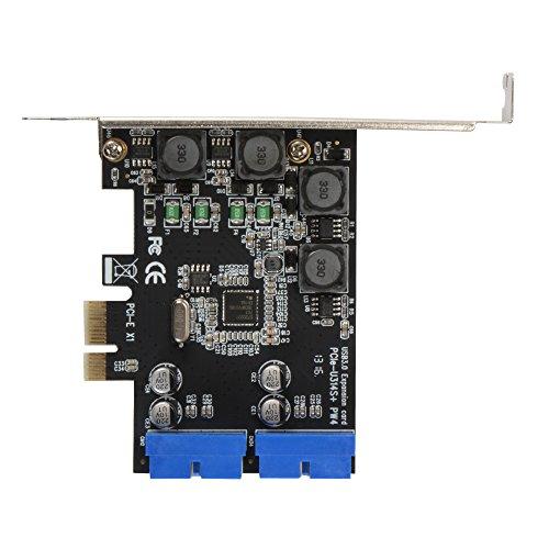 Sun3Drucker Desktop Computer PCI-E auf USB 3.0 Erweiterungskarte mit Dual 19 Pin SATA Power Connector