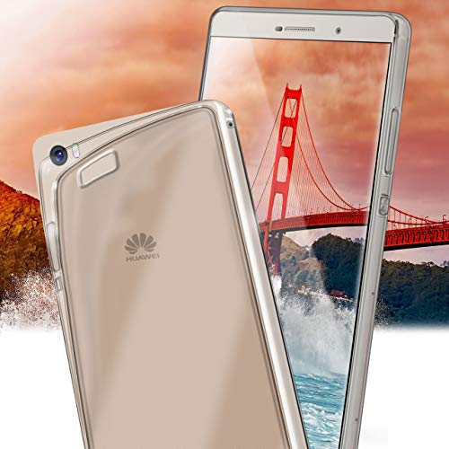 MoEx® Ultra-Clear Case [Vollständig Transparent] passend für Huawei P8 Max | rutschfest und extrem dünn - Fast unsichtbar, Klar - 6