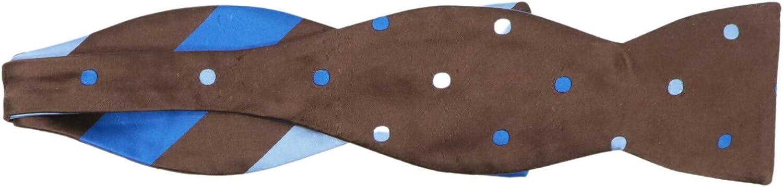 Edward Armah Men's Silk Double Sided Stripes Polka Dot Hook Bow Tie