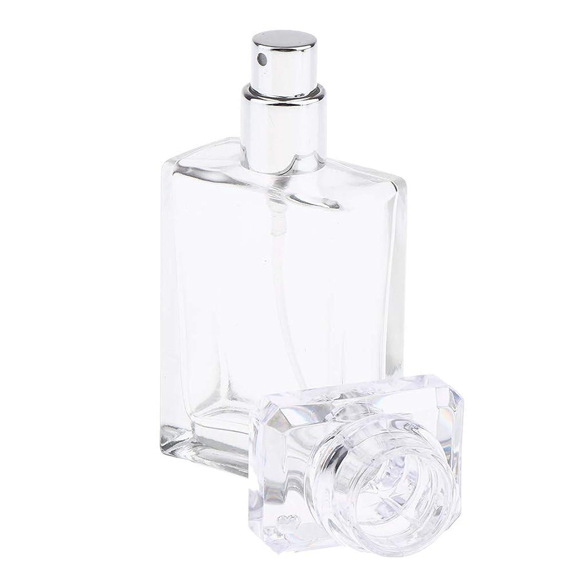 口述する鉛筆正統派P Prettyia 香水瓶 ガラスボトル スプレーボトル 香水 小分けボトル 空のボトル 30ミリリットル 全2色 - クリア