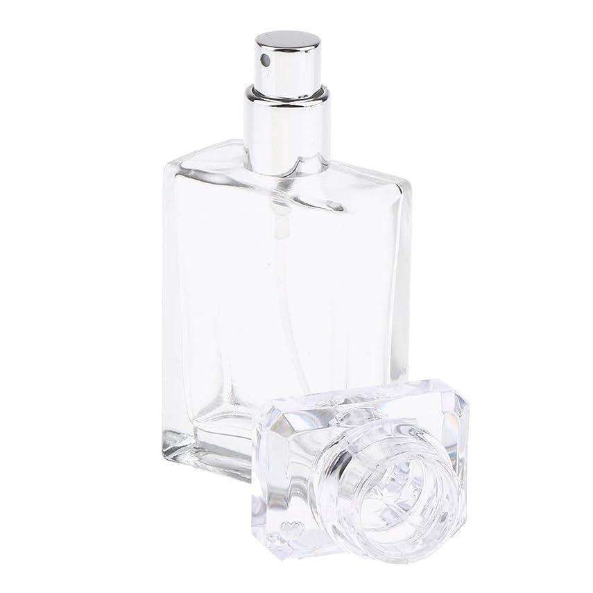 うんざりエンターテインメント補助Perfeclan アロマボトル 香水瓶 アトマイザー スプレーボトル 香水 ガラスポンプボトル 2色選ぶ 空の化粧品ボトル - クリア
