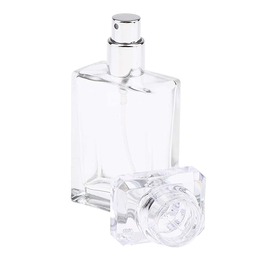 リース何日光FLAMEER ガラスポンプボトル 香水瓶 スプレーボトル 化粧品ボトル 旅行 携帯用 香水噴霧器 詰替え容器 2カラー - クリア