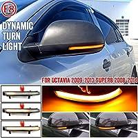 AL LED サイド ウイング バックミラー ミラー ダイナミック ターンシグナルライト 対応車種: シュコダ オクタヴィア 1Z3 1Z5 2009-2013 AL-JJ-6935