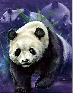 3D Home Wall Art Decor Lenticular Pictures, Panda Collection Holographic Flipping Images, 12x16 inches Animal Poster Painting, Without Frame, Panda