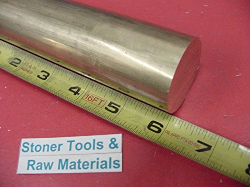 1-1/2 C360 BRASS ROUND ROD 6' long +.07'/-0 Solid 1.50' Diameter H02 Lathe Bar Stock