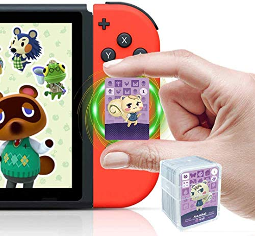 24 Tarjetas NFC Serie ACNH 1-4, Tarjetas Animal Crossing New Horizons para Switch/Switch Lite/Wii U/New 3DS con Estuche de Cristal