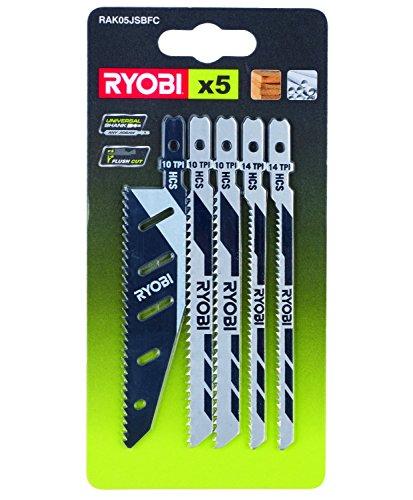 Ryobi Stichsägeblatt-Set RAK05JSBFC 5-teilig (5x Stichsägeblatt) für alle Stichsägen des Ryobi Sortiments - 5132002697