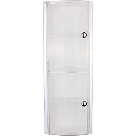 ZOSHOMI Crystal Wall Mount Bathroom Cabinet with Door and Storage (White)