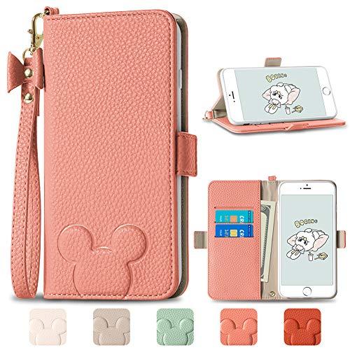 iPhone 8 ケース 手帳型 カバー iPhone se ケース 第2世代 スマホケース iPhone 7 携帯カバー かわいい カード収納 耐衝撃 ケータイケース iPhone 6s 6 スマホケース レディース アイフォン 8 人気の ストラップ 美しい アイフォンSE 2020ノート型 財布型 女性 おしゃれな あいふぉん 8 保護ケース 可愛い ケース手帳がた 全面保護カバー スマートフォンケース スタンド機能 アイフォン 7 シンプル お洒落 カード入れ ファッション ケースレザー スマホ カバー iphone 8 SE2 7 6S 6 スマホけーす case デザイン&実用性(iPhone 8/7/6s/6/SE(第2世代)兼用(画面が4.7インチ),ピンクアプリコット)