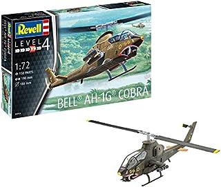 Revell Maqueta Helicóptero Bell AH-1G Cobra, Kit Modello, Escala 1:72 (4956) (04956), 19,0 cm de Largo